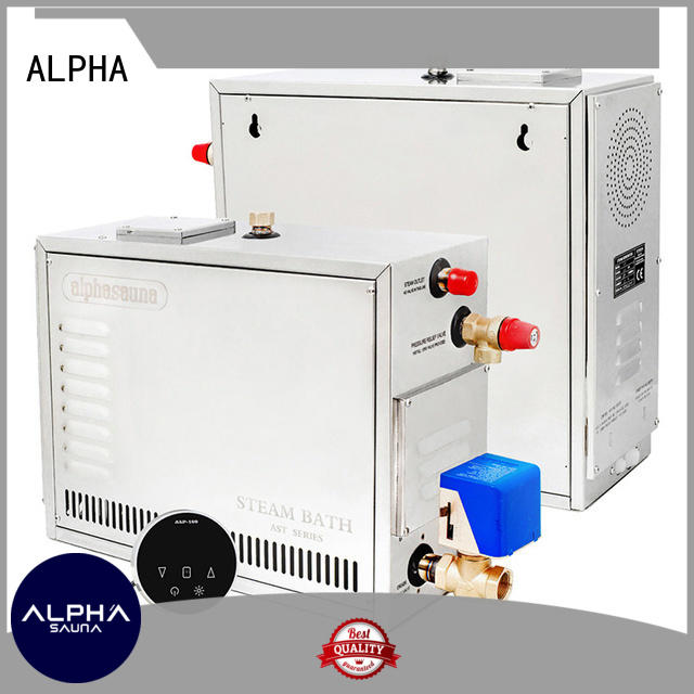 ALPHA waterproof steam room equipment sauna for villa
