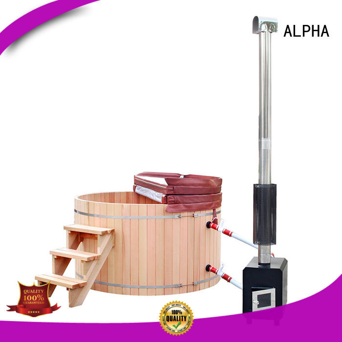 ALPHA wood heated hot tub manufacturers