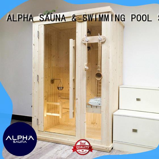 ALPHA room indoor steam sauna kits directly sale for indoor