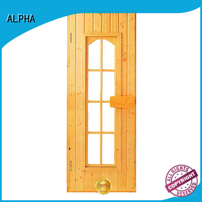 ALPHA stainless steel all glass sauna door stainless for villa