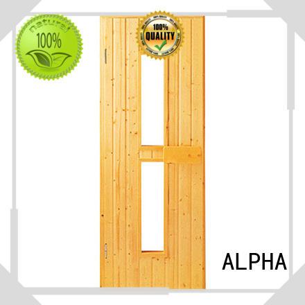 Custom cedar sauna door company