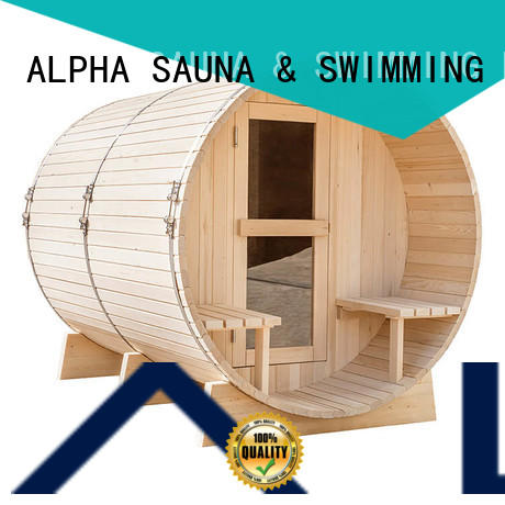 ALPHA round outdoor sauna factory price for indoor