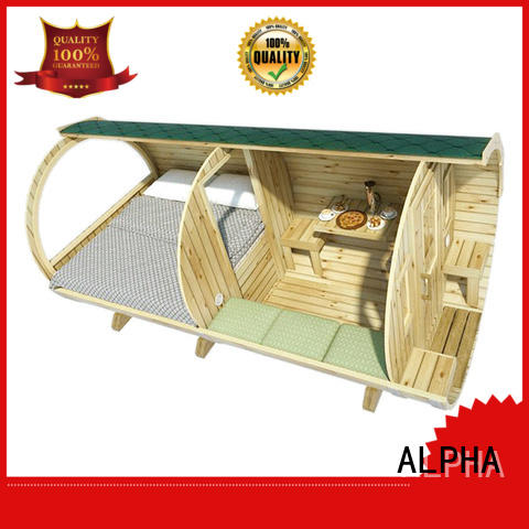 ALPHA wooden camping pods factory for villa