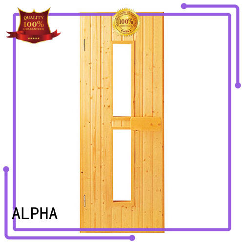 ALPHA Top sauna glass door manufacturers