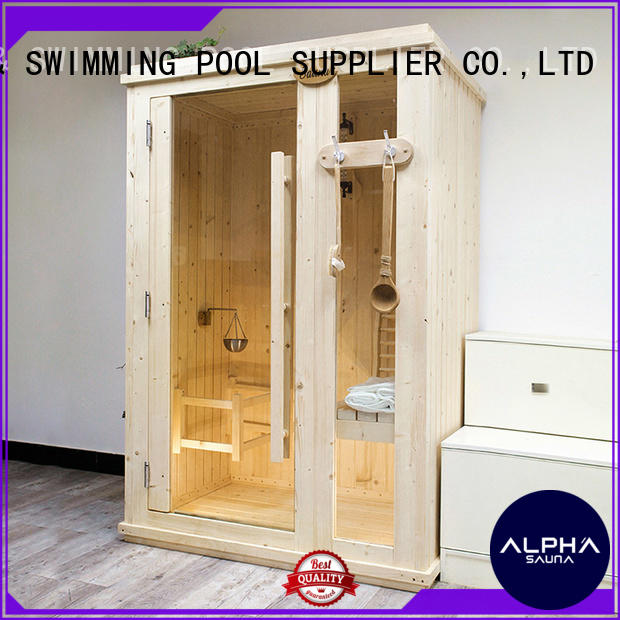 ALPHA thick clearlight sauna design for outdoor