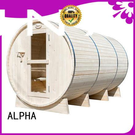 ALPHA hemlock sauna room factory price for outdoor