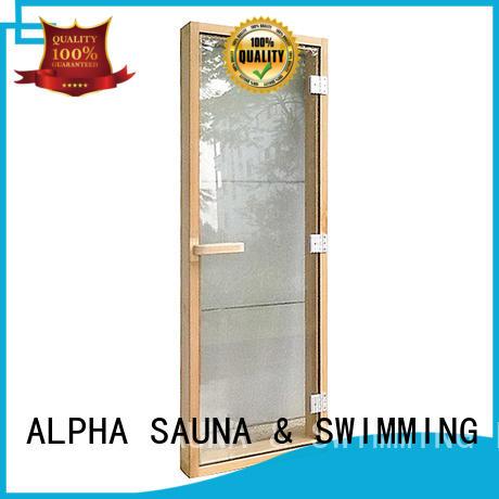 ALPHA cedar sauna door for business